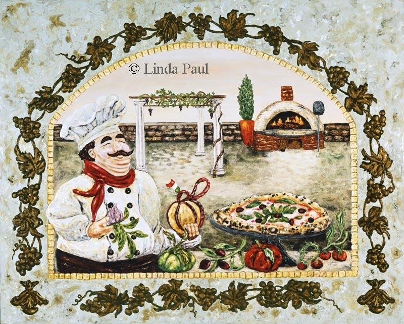 Italian Pizza Kitchen Artwork On Canvas And Tilelinda Paul Pertaining To Tile Canvas Wall Art (View 14 of 25)