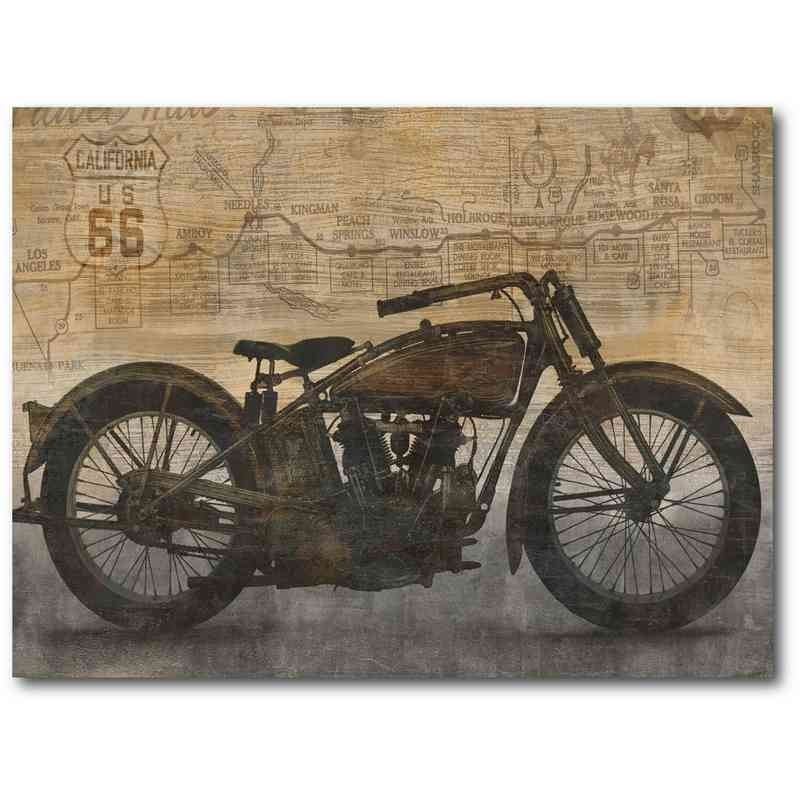 "I've Got A Motorcycle 18"" X 24"" Canvas Wall Art Intended For Motorcycle Wall Art (Image 7 of 25)"