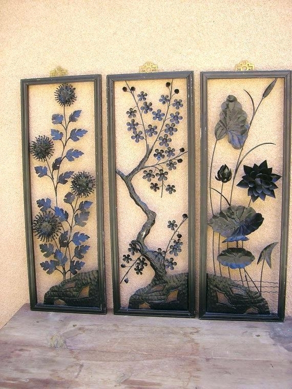 Japanese Wall Decor Art Canvas Wonderful Intended For Modern Metal With Regard To Japanese Wall Art (Image 12 of 20)