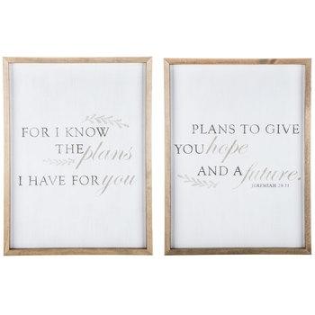 Jeremiah 29:11 Wood Wall Decor Set | Hobby Lobby | 1298389 Inside Hobby Lobby Wall Art (Image 13 of 20)