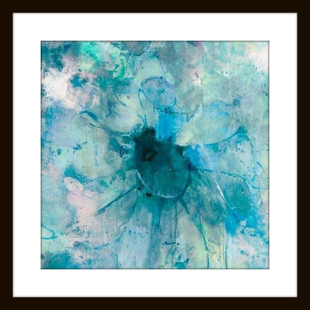 "Jill Martin ""teal"" Modern Wall Art – Modern – Artwork Mantle Regarding Teal Wall Art (View 9 of 10)"