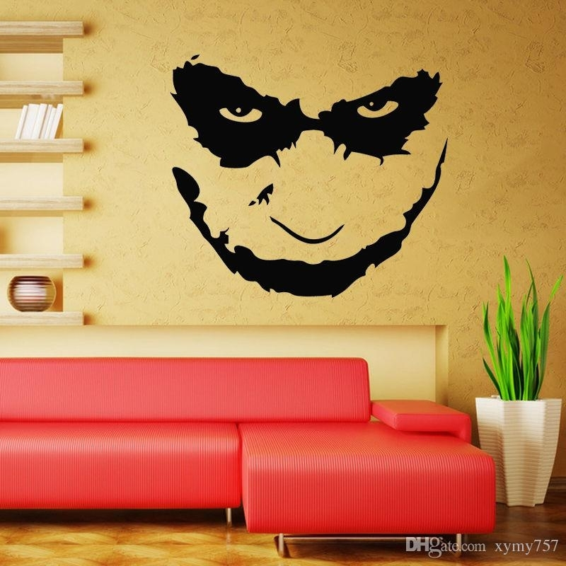 Joker Heath Ledger Wall Decal Art Iconic Vinyl Wall Decals Stickers Inside Joker Wall Art (Image 7 of 20)