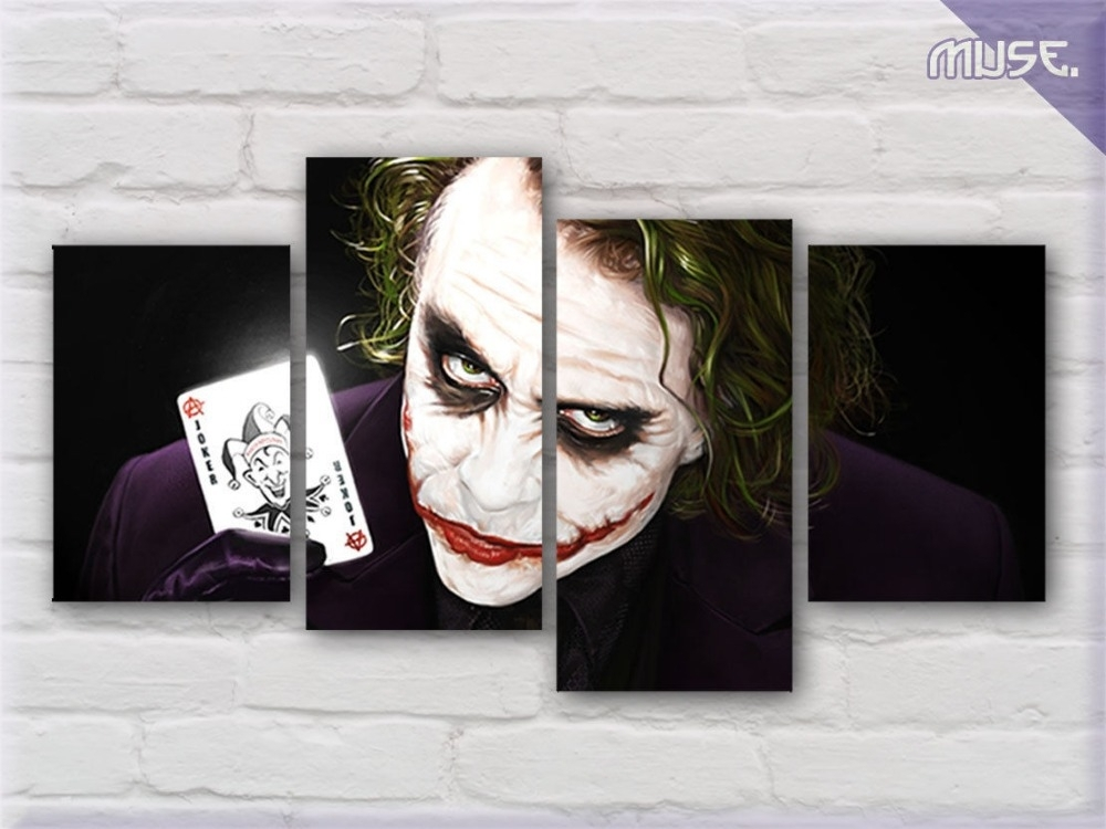 Joker Wall Art – Elitflat With Regard To Joker Wall Art (Image 9 of 20)