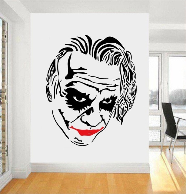 Joker Wall Decal Comics Superhero Stickers Wall Decoration Vinyl Art With Regard To Joker Wall Art (Image 10 of 20)