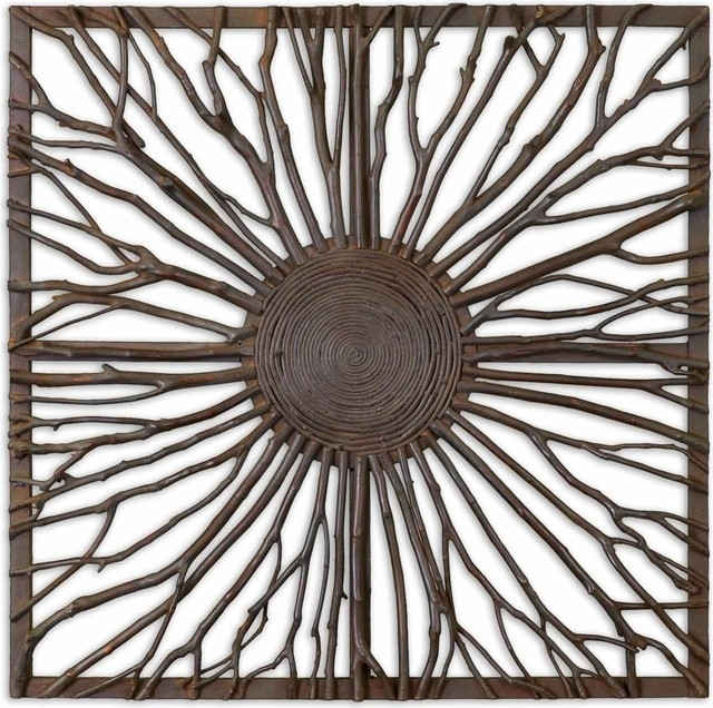 Josiah Square Wooden Wall Art – Rustic – Metal Wall Art  Hedgeapple With Rustic Metal Wall Art (Image 3 of 25)