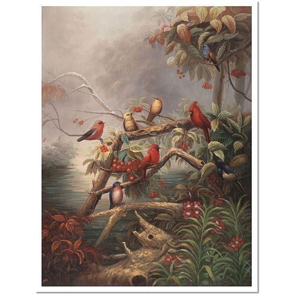 Joval 'birds' Framed Canvas Art ($95) ❤ Liked On Polyvore Featuring Regarding Bird Framed Canvas Wall Art (View 10 of 25)