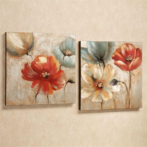 Joyful Garden Floral Canvas Wall Art Set For Floral Wall Art (View 7 of 20)