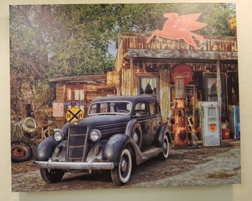Juicysatsumashop – Route 66 Old Timers Garage Car Canvas Wall Art Pertaining To Car Canvas Wall Art (View 19 of 25)