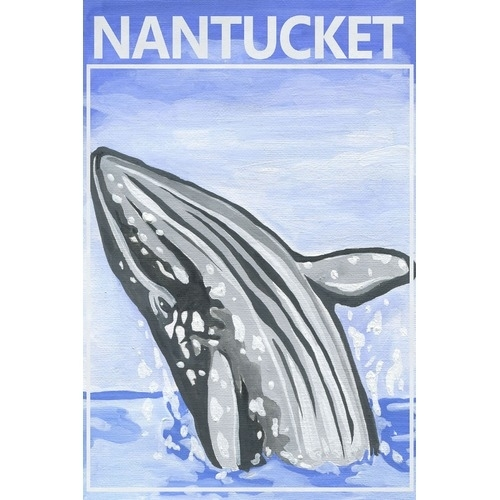 Jumping Whale Canvas Wall Art | Temple & Webster In Whale Canvas Wall Art (Image 11 of 25)