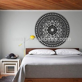 K18 Aiwall Personalized Mandala Wall Art Decals Creative Mural Art Within Mandala Wall Art (Image 5 of 25)