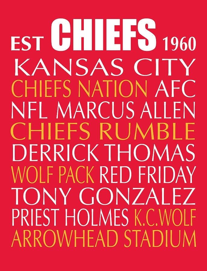 Kansas City Chiefs Wall Art – Copperc Art Cafe Regarding Kansas City Wall Art (Image 7 of 25)