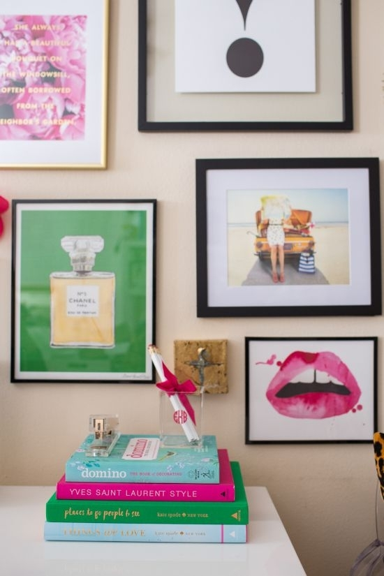 Kate Spade Gallery Wall | Chanel Print, Gallery Wall And Walls For Kate Spade Wall Art (Image 9 of 20)