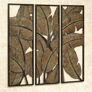 Kaylani Tropical Leaf Metal Wall Art Panel Set | Wall Decor Intended For Metal Wall Art Panels (View 19 of 20)