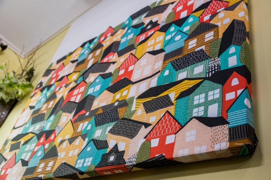 Ken Wingard's Diy Shower Curtain Wall Art – Video | Home & Family With Regard To Shower Curtain Wall Art (Image 15 of 25)