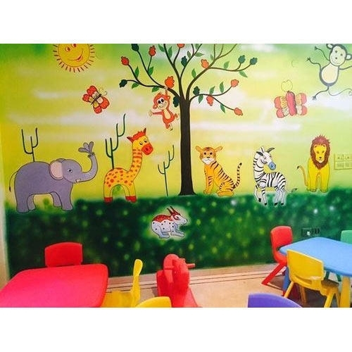 Kids Class Room Wall Art Painting At Rs 60 /square Fit | Bacchon Ke Regarding Kids Wall Art (Image 2 of 10)