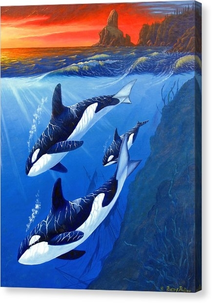 Killer Whale Canvas Prints (Page #18 Of 20) | Fine Art America Regarding Whale Canvas Wall Art (Image 12 of 25)
