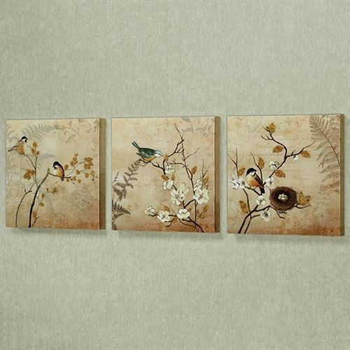 Kiss Of Nature Birds Canvas Wall Art Set In Nature Wall Art (Image 13 of 25)