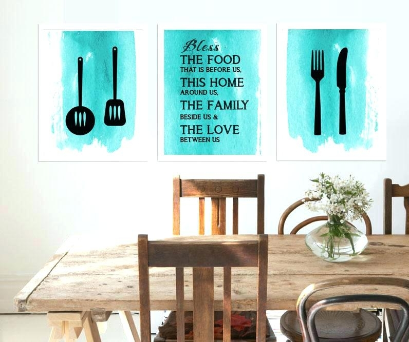 Kitchen Artwork Decor Kitchen Canvas Wall Art For Ideas On Prints Regarding Kitchen Canvas Wall Art Decors (Image 11 of 25)