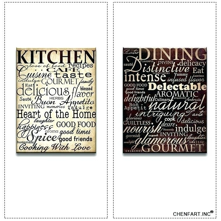 Kitchen Artwork Decor Kitchen Framed Wall Art Plain Kitchen Wall With Kitchen Canvas Wall Art Decors (View 7 of 25)