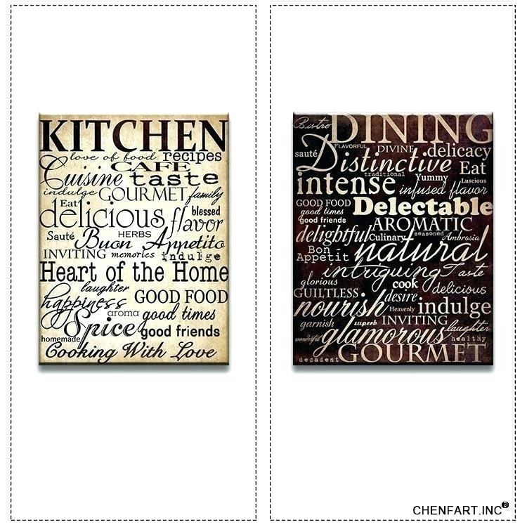 Kitchen Artwork Decor Kitchen Framed Wall Art Plain Kitchen Wall With Kitchen Canvas Wall Art Decors (Image 14 of 25)