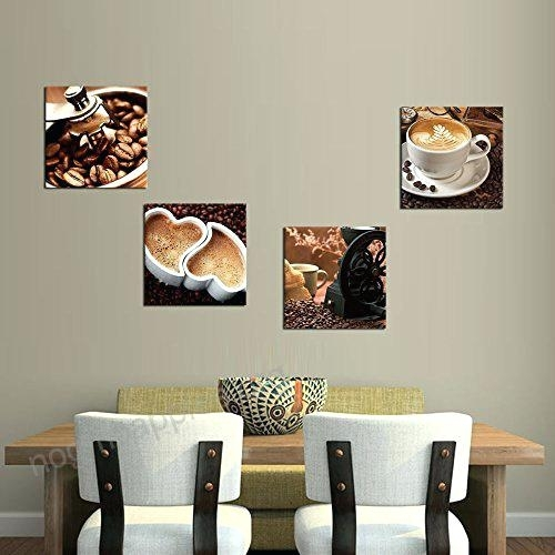 Kitchen Canvas Wall Art Kitchen Canvas Art Coffee Bean Coffee Cup With Regard To Kitchen Canvas Wall Art Decors (Image 17 of 25)