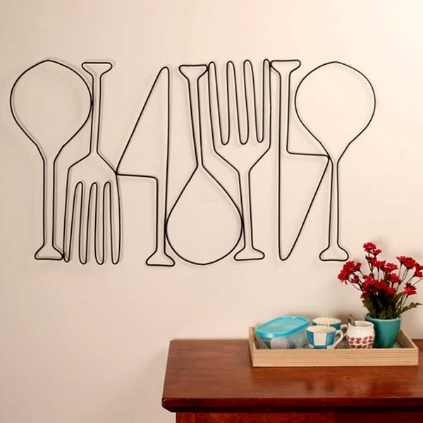 Kitchen Metal Wall Art | Food For Thought | Dining Room Wall Decor In Kitchen Metal Wall Art (Image 7 of 25)