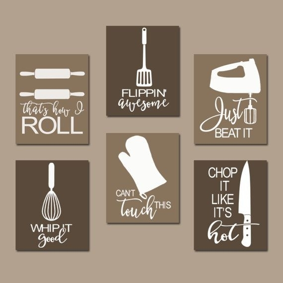 Kitchen Quote Wall Art, Funny Utensil Pictures, Canvas Or Prints For Wall Art For Kitchen (Image 8 of 20)