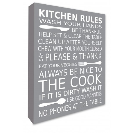 Kitchen Rules Wall Art Decor In Bathroom Rules Wall Art (Image 22 of 25)