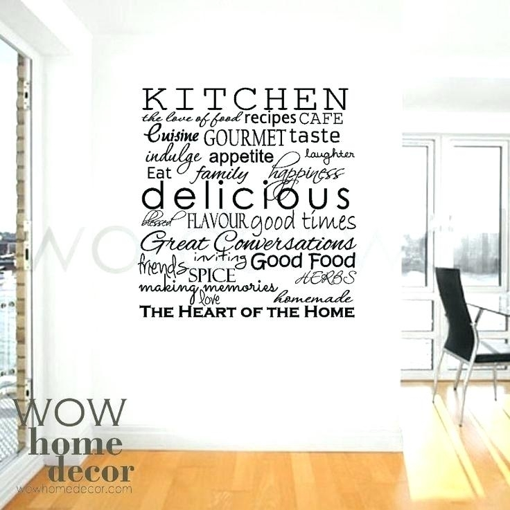 Kitchen Wall Words Kitchen Wall Words Quotes Sayings Art Kitchen Within Word Wall Art (Image 6 of 20)