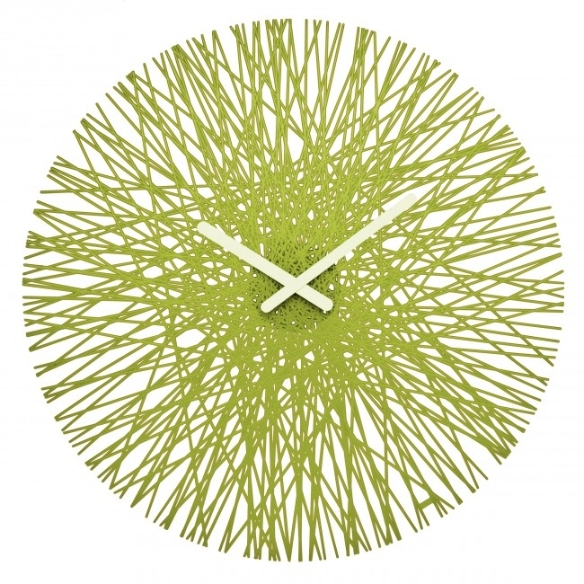Koziol Silk Contemporary Green Wall Clock (Image 20 of 25)