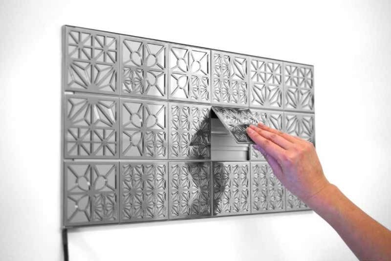 Kumiko Modular Oled Wall Tiles Function As Lighted Wall Art Inside Lighted Wall Art (View 9 of 20)