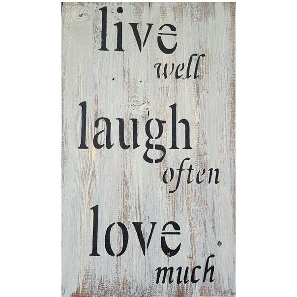 Kygo Woodworx Live Laugh Love Wall Art – White Base Grey Top | Buy Within Live Laugh Love Wall Art (Image 5 of 25)