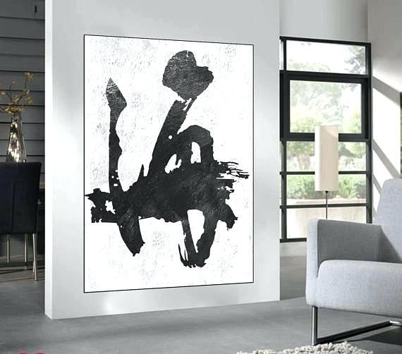 Large Black White Canvas Wall Art White Flowers Canvas Wall Art For Black And White Large Canvas Wall Art (Image 17 of 25)