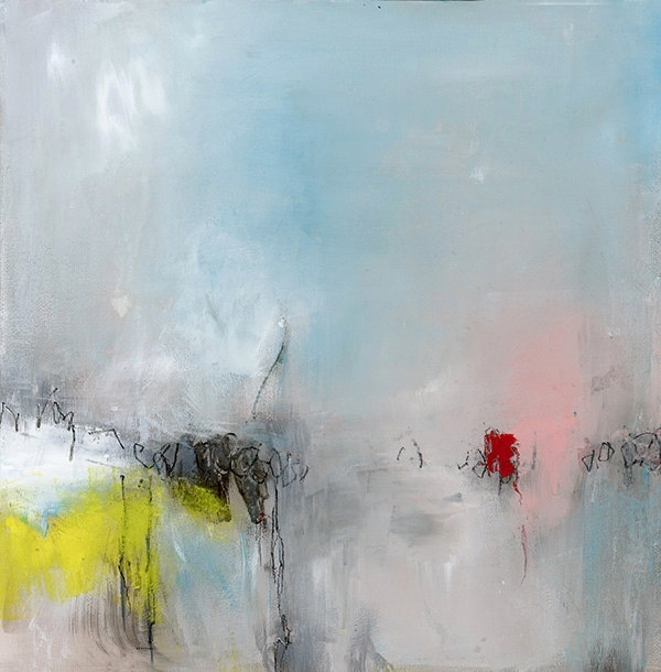 Large Blue Abstract Painting Gicl?ã?©E Print Large Wall Art Modern For Modern Abstract Painting Wall Art (Image 14 of 25)