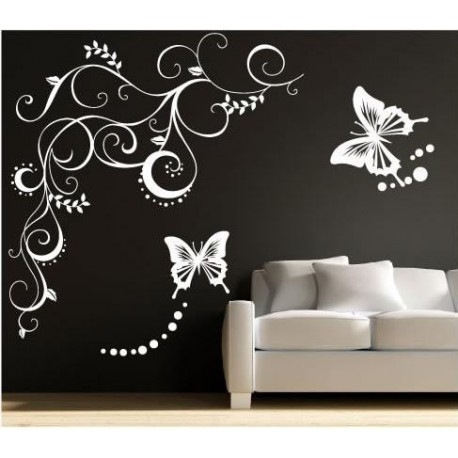 Large Butterfly Wall Sticker, Butterflies Wall Decal For Your Bedroom (Image 8 of 10)