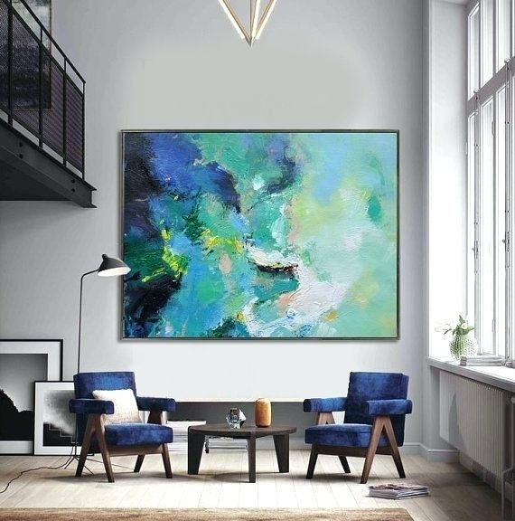 Large Canvas Painting Huge Abstract Wall Art Very Large Wall Art Within Large Canvas Painting Wall Art (View 16 of 25)