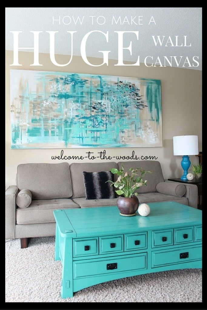 Large Canvas Wall Art | Diy Home Decor Ideas | Pinterest | Wall With Large Framed Canvas Wall Art (View 11 of 25)
