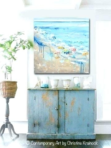 Large Coastal Wall Art Coastal Wall Decor Large Abstract Beach Intended For Large Coastal Wall Art (Image 14 of 20)