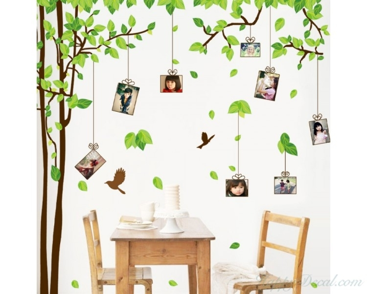 Large Family Tree Wall Decals – You Can Place Photos Around The Tree Within Family Tree Wall Art (View 9 of 10)