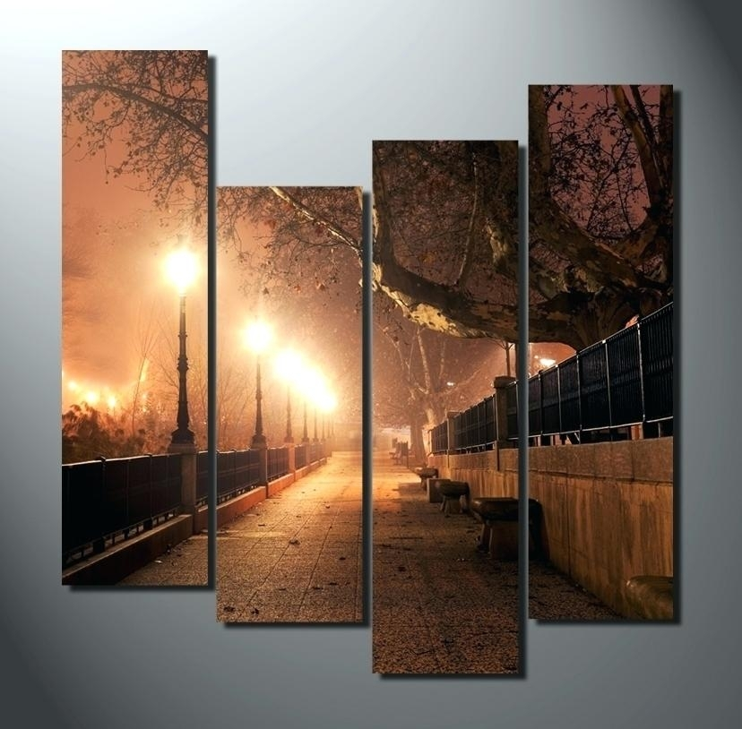 Large Landscape Wall Art Floral Prints Modern Contemporary Wall Art Regarding Modern Large Canvas Wall Art (View 13 of 25)