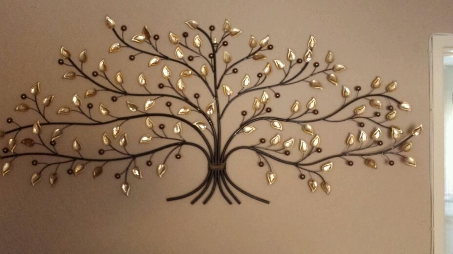 Large Leaf Wall Decor Pleasing Metal Wall Art Trees And Leaves Home In Metal Wall Art Trees (View 16 of 25)