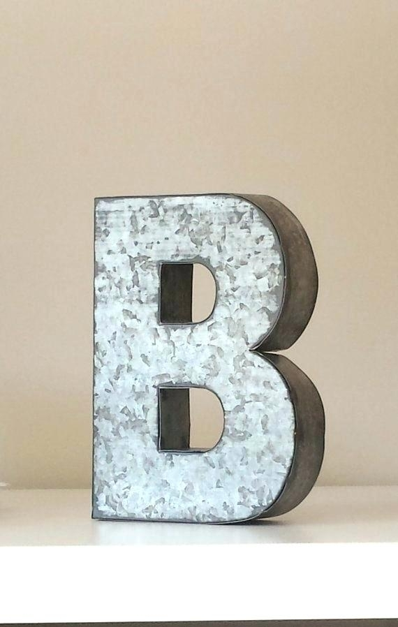 Large Metal Letters For Wall Decor – Winsoc Throughout Metal Letter Wall Art (Image 9 of 25)