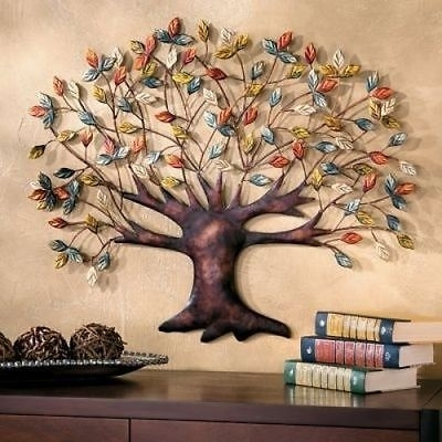 Large Metal Tree Of Life Wall Art Decor Garden Patio Sculpture Intended For Tree Of Life Wall Art (Image 3 of 10)