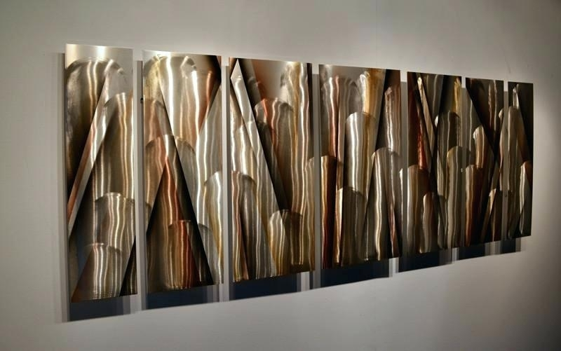 Large Metal Wall Art Vanishing Point Large Modern Abstract Metal Regarding Large Metal Wall Art (View 2 of 10)