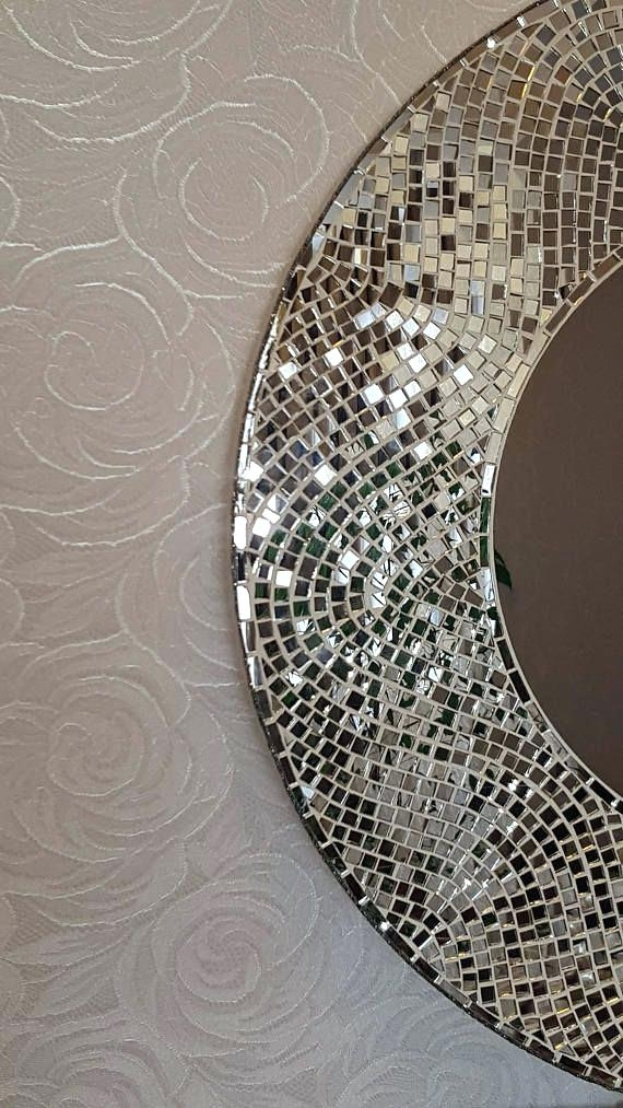Large Round Wall Art Decorative Large Round Mosaic Mirror Wall Art With Regard To Round Wall Art (Image 10 of 25)