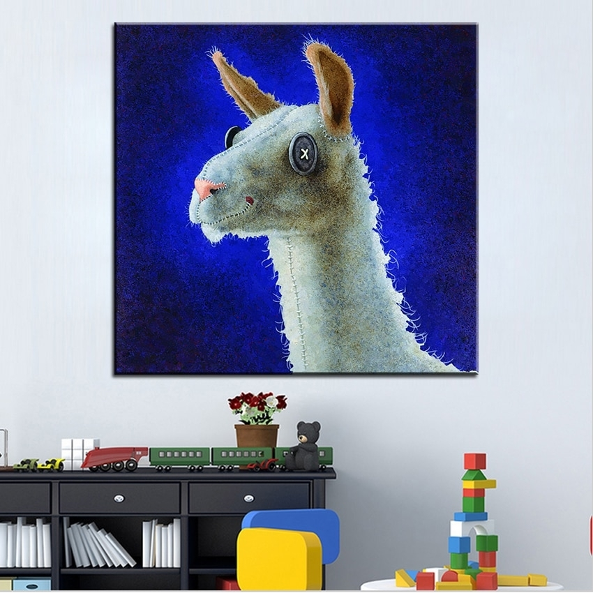 Large Size Printing Oil Painting Dolly Llama Wall Painting Wall Art For Living Room Painting Wall Art (View 25 of 25)