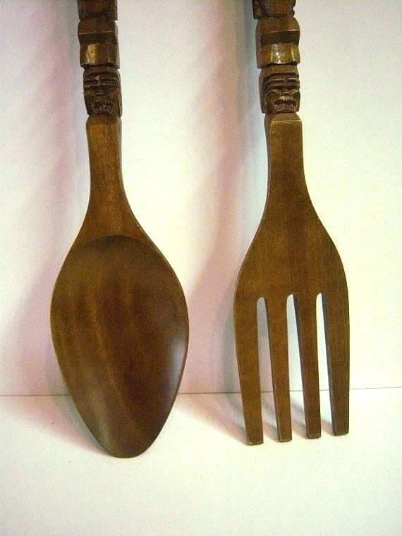Large Spoon And Fork Wall Decor Fork Spoon Wall Decor Unique Antique Within Fork And Spoon Wall Art (Image 17 of 25)