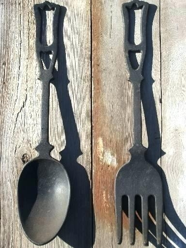 Large Spoon And Fork Wall Decor Large Spoon And Fork Wall Decor In Fork And Spoon Wall Art (Image 18 of 25)