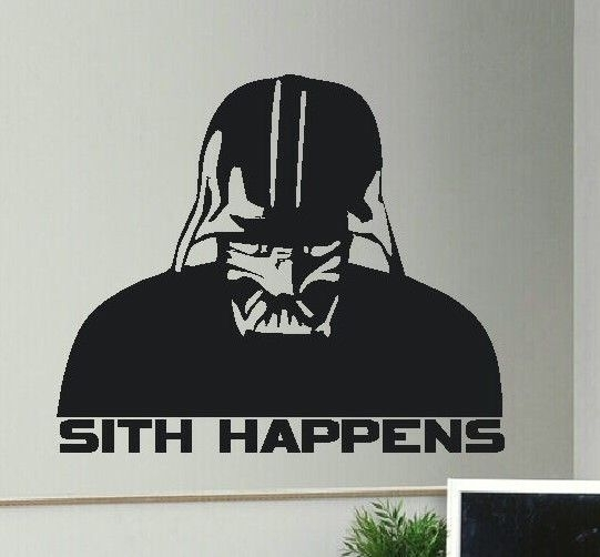 Large Star Wars Darth Vader Sith Happens Wall Art Sticker High Within Darth Vader Wall Art (Image 14 of 25)