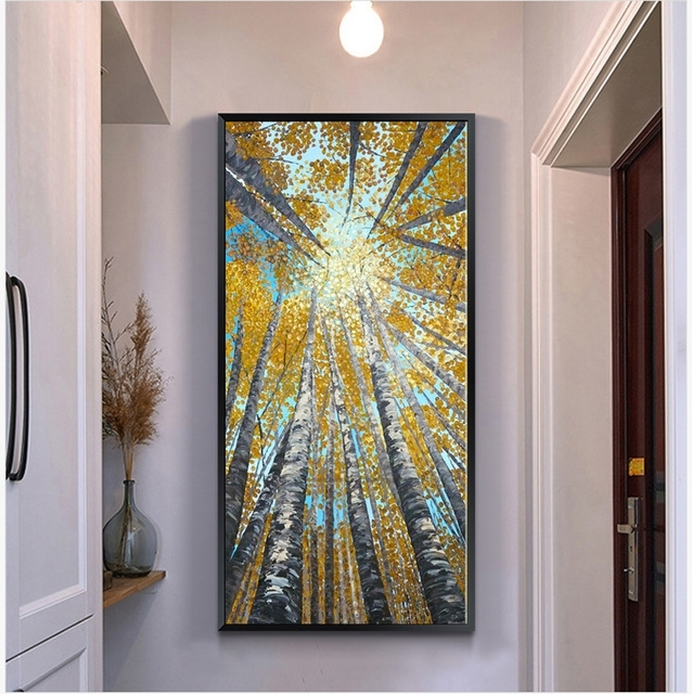 Large Vertical Modern Painting Decorative Pictures Abstract Art Throughout Vertical Wall Art (Image 8 of 20)